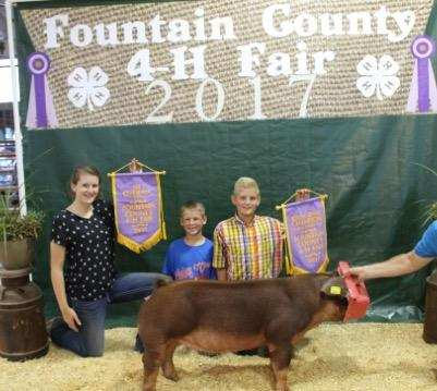 5th Overall Gilt & Champion Duroc Gilt