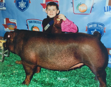 8th Overall Bred & Owned Duroc Gilt