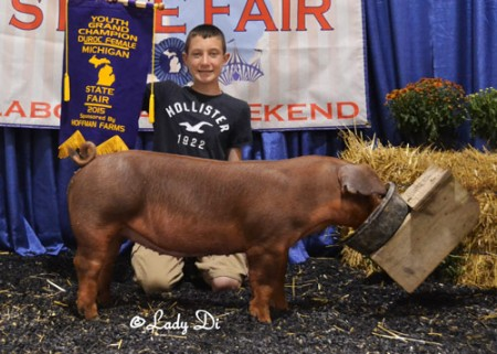 YOUTH-GRAND-CHAMPION-DUROC-FEMALE---SEPT---MI-STATE-FAIR---Shown-by-Devin-Hoffman---Dust-Storm