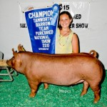 Champion Tamworth Barrow - 2015 Team Purebred Jr. National out of the Dozer sow
