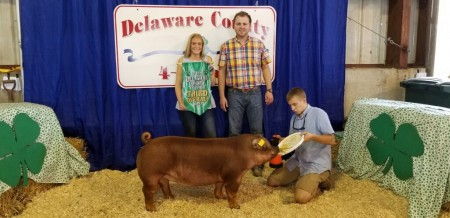 3rd Overall and Champion Duroc Gilt