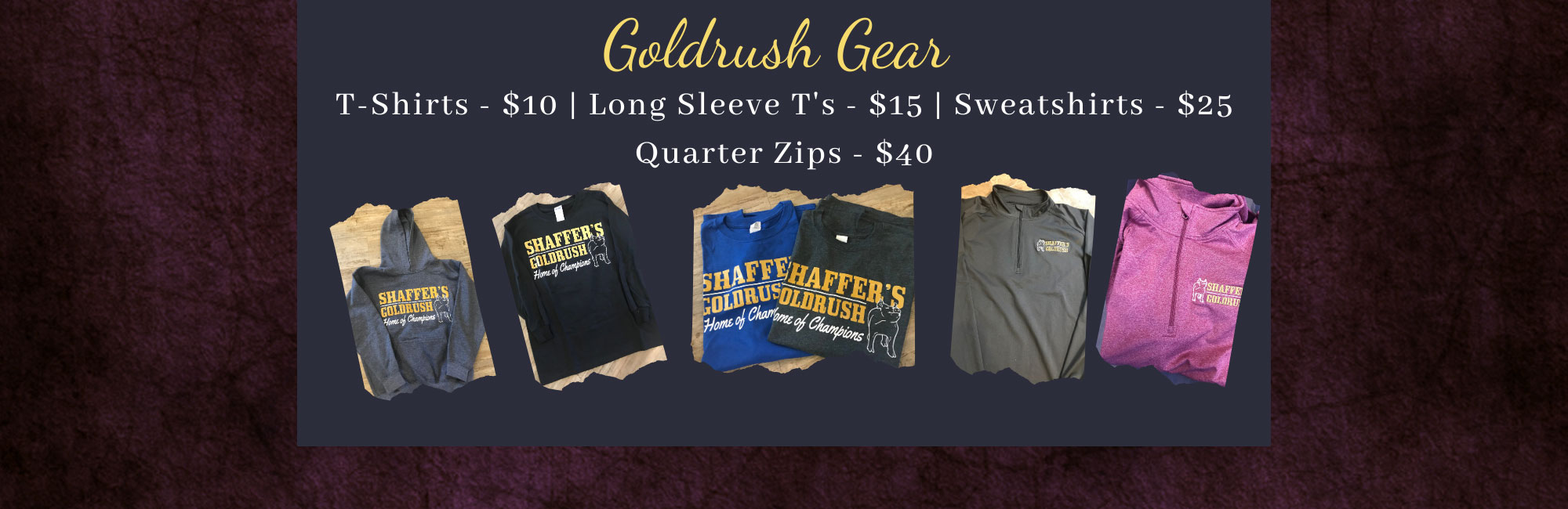 Goldrush Gear